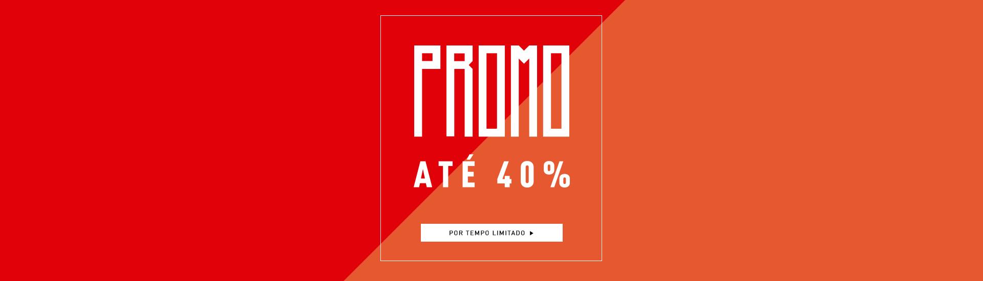 Promo até 40%off