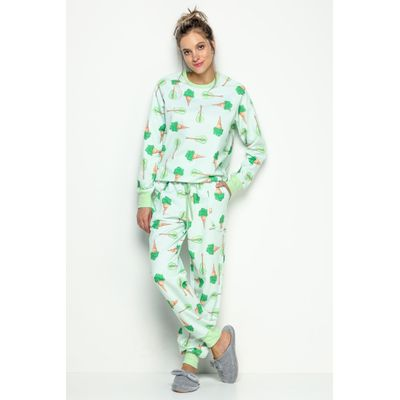ce95ead8e8da7e Pijama Feminino Longo: Pijama Manga Longa Feminino | ACUO