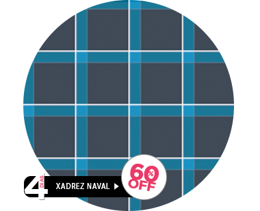 Estampa Xadrez Naval